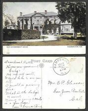 1912 Canada Postcard - New Brunswick - Fredericton - Old Government House