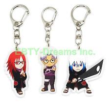 Set of 3 Naruto Anime Acrylic Keychain Kabuto Yakushi, Karin, Suigetsu Hoozuki