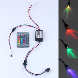 RGB DC12V 2W Side Glow Fiber Optic Light Illuminator with 24 key Remote Car USE