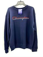 Champion Mens Crew Neck Blue Logo Sweatshirt Sz Medium NWT