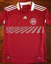 Adidas DENMARK 2010 World Cup M Home Soccer Jersey Football Shirt Dansk Red