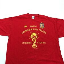 Adidas Red Soccer Shirt Mens Size L Large Short Sleeve Fifa World Cup Loose Fit