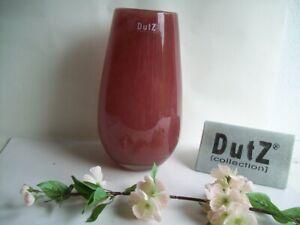 Dutz Collection Vase Cranberry Robert rot 25 cm Glas mundgeblasen rund Pot