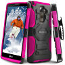 LG G Stylo 2 PLUS Case, Rugged Holster Case with Kickstand & Belt Swivel Clip