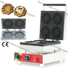 Commercial Nonstick Electric Flower Icecream Cone Waffle Baker Maker Iron Machin