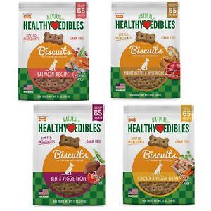 Nylabone Healthy Edibles Biscuits Grain Free Dog Treats Asst Flavor  Free shippi