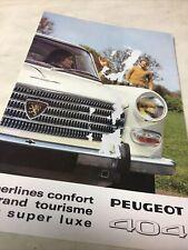 Peugeot 404 1968 catalogue prospectus brochure dépliant publicité
