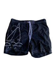 Vintage Polo Ralph Lauren Marine Supplies PRLC Sailing Swim Shorts Black Large