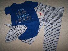 Boys 3-6 Months~3 Pc Outfit/Set~Bodysuit/Pant & Cap~Swiggles/$Gen~NWT~AD21