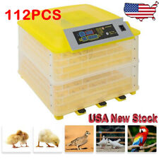 New listing 112Eggs Chicken Goose Incubator Automatic Egg Incubator Poultry Hatcher 110V