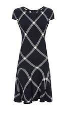 Alice + Olivia Diagonal Plaid Drop Waist Sweater dress Black Size S