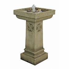 Ss12241 - White Chapel Manor Pedestal Garden Fountain w/Pump!
