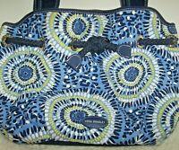 Vera Bradley Starry Night Shoulder Bag Tote Shades Of Blue Nautical Rope Detail