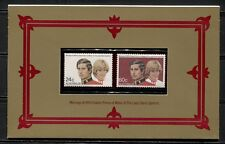 Australia 1981, Royal Wedding, Charles And Diana, Sc 804-805 In Special Folder