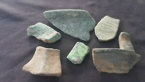 Lovely lot of Medieval bronze pot shards Yorkshire A must read description L126j