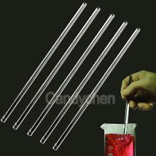 5X Glass Stirring Rods 5mm x 150mm/200mm for Lab Use Stir Bar Stirrer Laboratory