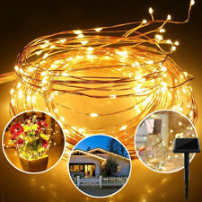 LED Solar Fairy String Light Copper Wire Lamp Outdoor Waterproof Garden Decor