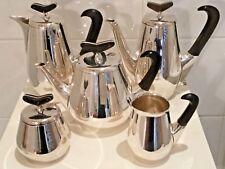 1960s Danish Vintage Retro Silver Plate Coffee Tea Set by Roif Fritiof Bratland