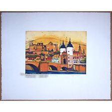 """Gerhard Hofmann: Original-farbradierung """"Heidelberg"""" de 2010, 100 exempl. Nouveau"""