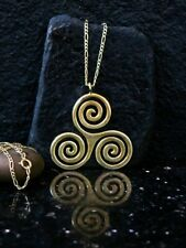 Triskelion Necklace  Wiccan Jewelry, Celtic Jewelry Mens Necklace Men Gift