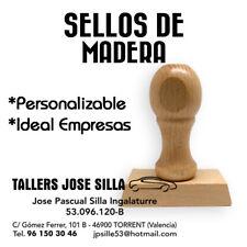 Sello Caucho de Madera personalizado, Cualquier Tamaño, ideal Empresas Autonomos