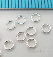 50x BRIGHT STERLING SILVER ROUND OPEN JUMP RING 3mm 0.6mm 22GA J030