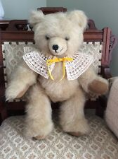 "Tan Furry Teddy Bear 18"" Jointed Handmade OOAK by artist Mildred Purgason CUTE!"