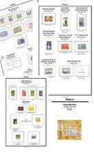 Imprimer vos propres Timbre France album, abondamment illustrée et annotée