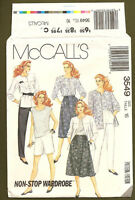 McCall's Sewing Pattern Misses Shirt Top Pants Shorts Skirt Size 16 Uncut 3549