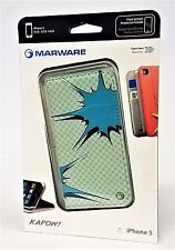 Marware KAPOW! Wallet case for iPhone 5 S/E/5s Gray/Turquoise