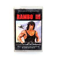 RAMBO III 3 Stallone Motion Picture Film Soundtrack Original Cassette Tape 1988