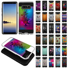 "For Samsung Galaxy Note 8 N950 6.3"" Hybrid Silicone Rubber Brushed Cover Case"