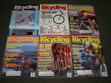 1992 BICYCLING MAGAZINE LOT OF 9 - CYCLE - GREAT COVERS & PHOTOS - PB 190U