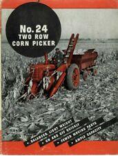 Ih International Farmall Mccormick No 24 2 Row Corn Picker Brochure Snapper