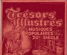 """R. CRUMB 10-INCH ILLUSTRATED RECORD SLEEVE """"MASTER TREASURES"""" 2000 RED FRANCE"""
