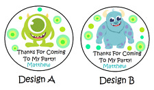 24 BABY MONSTERS INC BIRTHDAY THANK YOU (THANKS)FOR COMING PARTY STICKERS FAVORS
