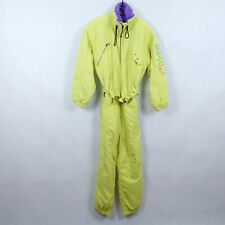 BELFE Womens Yellow Festival One Piece Ski Suit Snowsuit Snowboarding UK18, XL