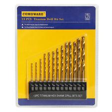 13 piece High Speed Steel Hex Shank Twist Drill Bit Set