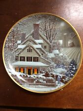"""Winter Home""-Collector Plate —Franklin Mint -Limited Edition"