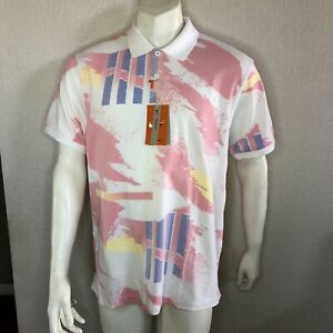 Nike Court Polo Shirt Challenge Slim Fit Andre Agassi CU5995-100 Mens Size XL