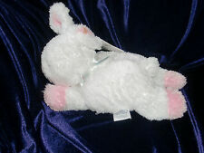CARTERS CARTER STARTERS WHITE PINK BUNNY RABBIT LETS LET BE FRIENDS STUFFED TOY