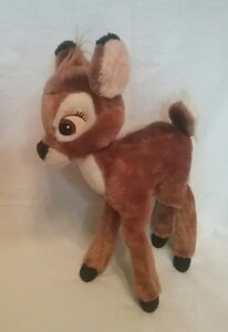 "Vintage Walt Disney 14"" Bambi plush w/ bendable legs stuffed animal collectable"