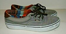 VANS grey deck shoes - gender neutral, size 6.