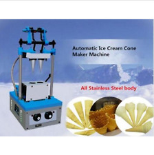 Commercial Automatic Ice Cream Cone Maker Machine Double Cones Electric