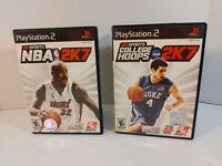 College Hoops 2K7 & NBA 2K7 Sony PlayStation 2 PS2 Complete with Manual