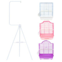 Small Bird Cage Home Hang Travel Cage For Parakeet Finch Canary Love Bird Stand