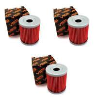 Volar Oil Filter - (3 pieces) for 1999-2006 Suzuki AN400 Burgman 400