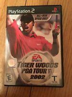 EA SPORTS TIGER WOODS PGA TOUR 2002 - PS2 - NO MANUAL - FREE S/H (Z)