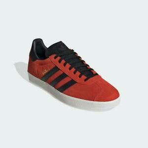 Adidas Gazelle Trainers Red Black Authentic Brand New