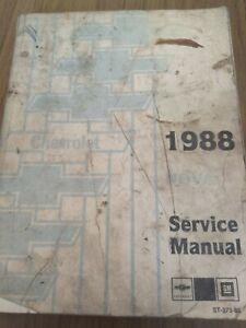 1988 Chevrolet Nova Service Manual